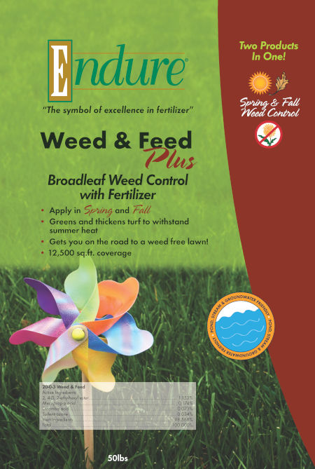 Endure Lawn Weed & Feed Plus