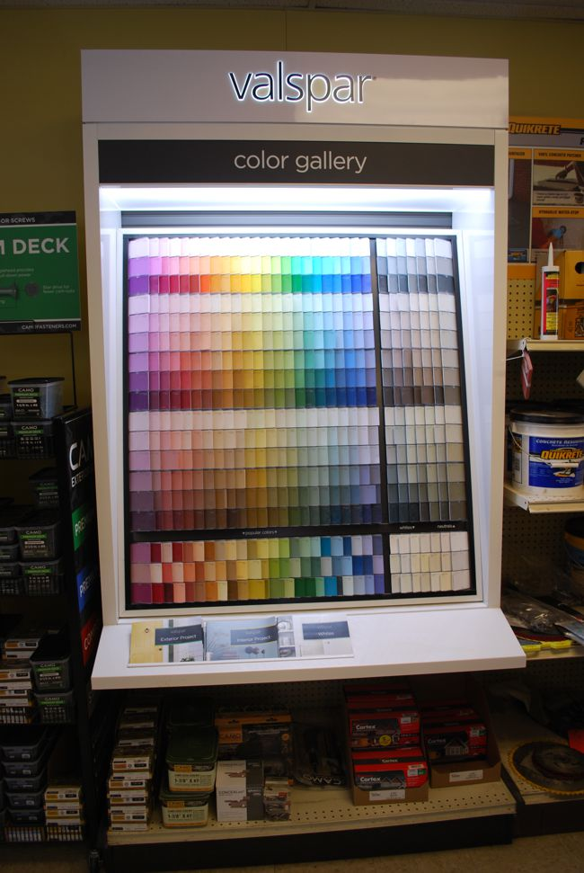 Valspar Paint Color Display